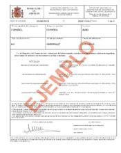 Ejemplo de certificado de seguros